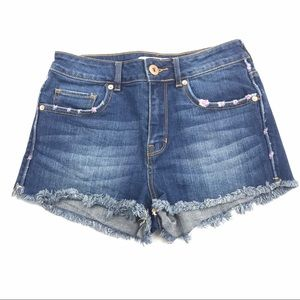 Bullhead Women High-Rise Denim Shorts Size 5